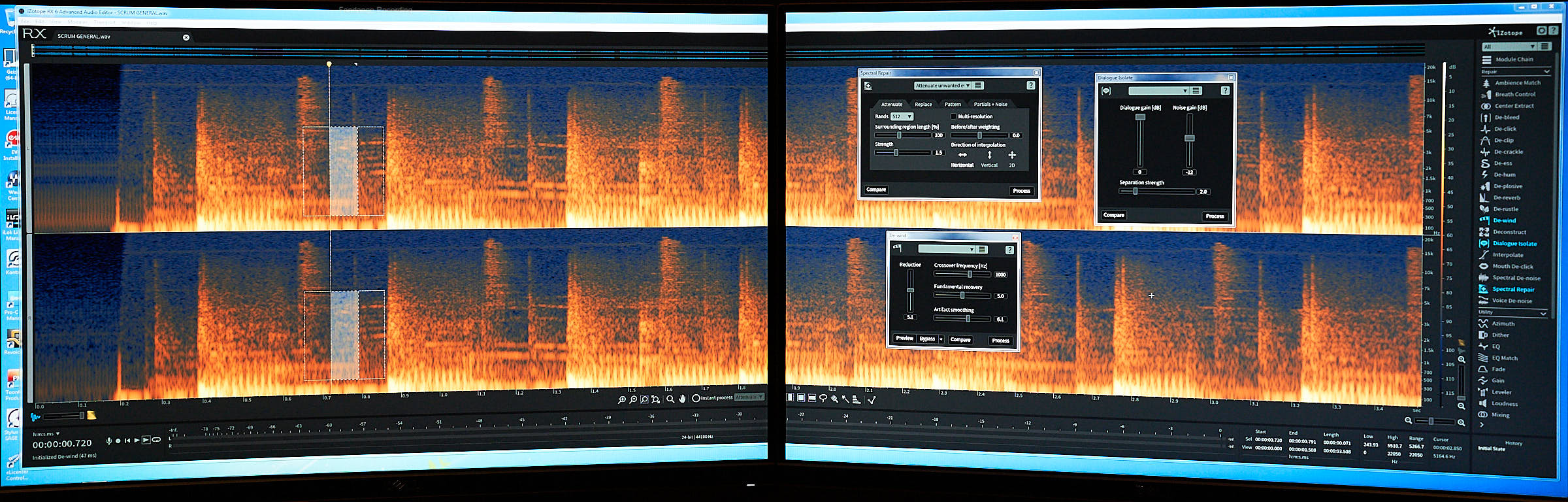 Spectrogram is one the tools used for audio and sound restoration.