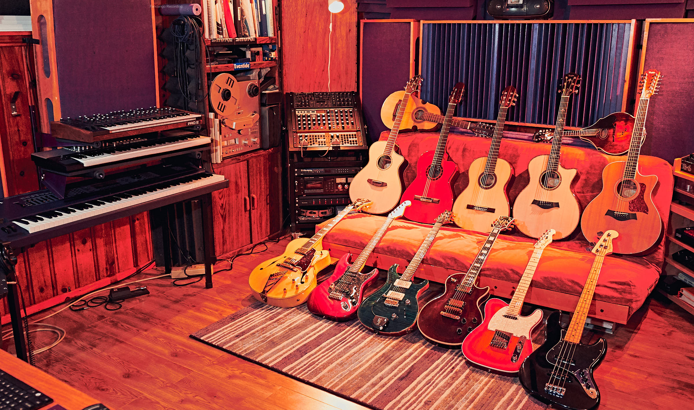 Variety of guitars and synths for music production use.